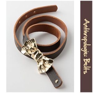 """Anthro """"Hammered Bow Belt"""" by Moss Mills"""